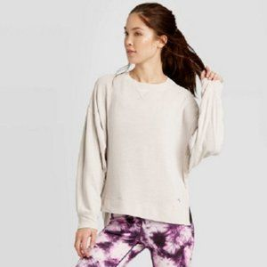 Women's Cozy Sweatshirt JoyLab Light Gray NWT Grey